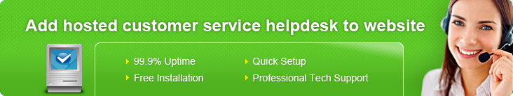 Add hosted customer service helpdesk to website
